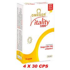 Omega 3 Omegor Vitality 1000 Alta Concentrazione EPA e DHA 4X30 120 cps Vit. E