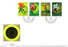 LIECHTENSTEIN 1970 - FDC - YEAR OF NATURE - CONSERVATION - FLOWERS