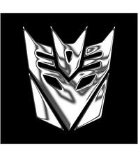 TRANSFORMERS DECEPTICON Chrom 2x Aufkleber Sticker Emblem 110x100mm