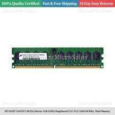MT18HTF12872PY-667D2 Micron 1GB DDR2 Registered ECC PC2-5300 667Mhz 1Rx4 Memory