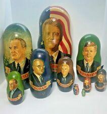 Large Hand painted Portraits American President Nesting Dolls Democrat Biden