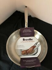 """Breville Stainless Steen 8.5"""" Saute/Skillet Frypan New Cooking Pan"""