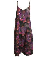Women UK 14 Fab Floral Boho Summer Holiday Beach Sundress Dress Slipdress