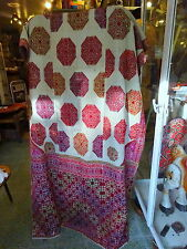 Antique Swat Valley Wedding Shawl Hand embroidered/spun cotton handwoven Silk