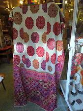 Antiguo valle de Swat Boda Chal Algodón Hilado/bordado a mano de seda tejidos a mano
