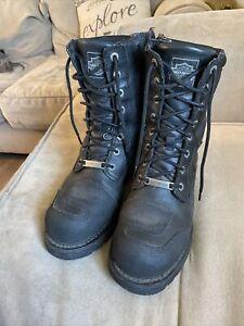HARLEY DAVIDSON Men Leather Black Boots