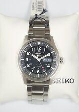 SEIKO Automatic SNZG13K1 Stainless  Blk Dial Watch SNZG13 w box 100m 23 Jewels