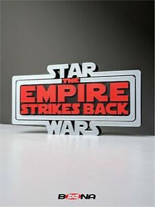 Decorative STAR WARS EMPIRE STRIKES BACK self standing logo display for Kenner