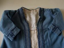 """ORIGINAL ANTIQUE WOOL COAT FOR 26-28"""" FRENCH  OR GERMAN BISQUE DOLL~FULL LINING"""