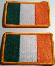 2 IRELAND Flag Military Patch With VELCRO Brand Fastener Gold Emblem #19