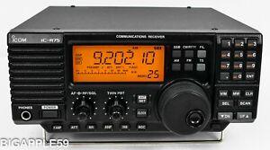 Icom IC-R75 Shortwave Amateur Radio Receiver w/ UT-106 DSP ***LATE SERIAL # UNIT