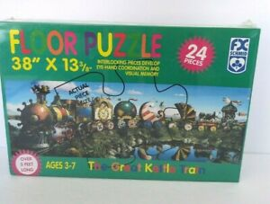 """Train floor puzzle 38"""" by 13 3/8"""" The Great Kettle 24 Pieces New sealed age 3-7"""