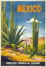 TX11 Vintage MEXICO Cactus Mexican Travel Poster Re-Print A1/A2/A3