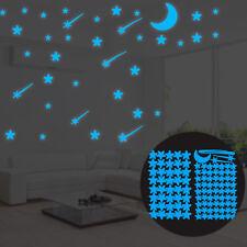 108Pcs Luminous Stars Glow in The Dark Ceiling Wall Stickers Kids Room Decor H16