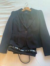 M&S Black Trouser Suit - Jacket 8/trouser 10 *