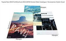 2019 Toyota NEW RAV4 Sales Brochure Accessories Audio Visual Navigation JAPAN