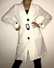 Burberry London White Silk And Cotton Trench Coat UK 8, RRP £1795