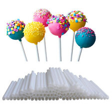 100pcs Pop Sucker Sticks Chocolate Cake Lollipop Lolly Candy Made Mould 10cm