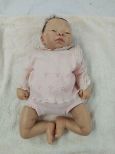The Ashton-Drake Galleries Realistic Baby Doll with Black Hair 48cm Length