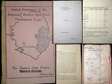 1985 SIERRA LEONE AFRICA AGRICULTURAL DEVELOPMENT PROJECT REPORT