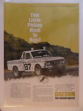 1969 Print Ad Nissan Datsun 4x4 Pickup Truck Vehicle ~ Little Pickup To Baja