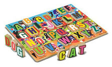 0Melissa & Doug Jumbo ABC Chunky Puzzle #3833 -New