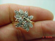Right Hand Ring #2960 Beautiful 14Kt Y/G Ladies Diamond