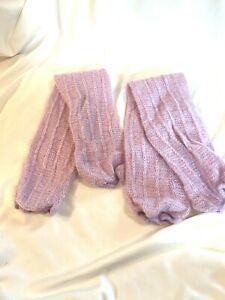Vtg 80s Aerobics Leg Warmers Purple Knit