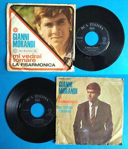 """7""""45 Giri Gianni Morandi Mi Vedrai Tornare/La Fisarmonica Italy Pop 1966 no lp"""