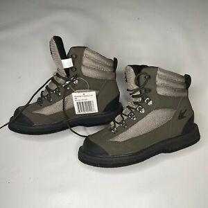 Frogg Toggs Hellbender  Wading  Shoe Felt  Green/Silver/Black, Men's size 8 W