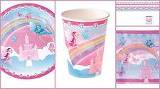 Set Kindergeburtstag Fee Prinzessin 37 Teile rosa  blau