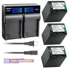 Kastar Battery LCD Rapid Charger for Sony NP-FV100 & DCR-SX15 DCR-SX20 DCR-SX21