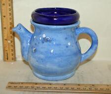 Unique Blue Miniature Teapot Ceramic African Violet Pot