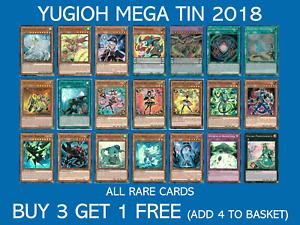 YuGiOh 2018 Mega Tin, All Rares - Choose your card - MP18 - Buy 3 Get 1 Free