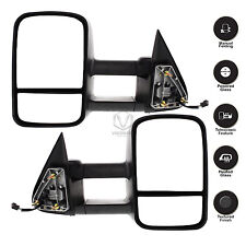 New Set of 2 Power Heated Towing Mirror Set for Chevrolet Silverado 1500, Pair