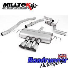"""Milltek Civic Type R FK8 Cat Back Exhaust 3"""" RACE Non Res Titanium GT SSXHO254"""