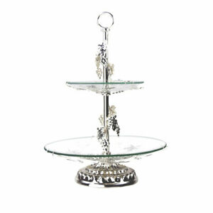 2 Tier Cake Stand Multifunctional Tower Dessert Cupcake Plate Fruit Table Decor