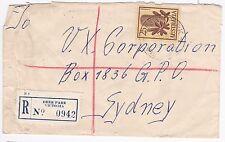 Australia Postal History Commercial Cover 1961 2/5 Banksia Registered Deer Park