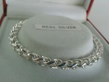 Sterling Silver Ladies Solid Spiga Bracelet. 7.5 inch. 16.6 grams. Hallmarked.