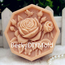 1pcs 8-Lace Camellia(zx188)Food Grade Silicone Handmade Soap Mold Crafts DIY Mo