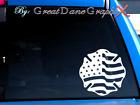 Maltese Cross US Flag #2 -Vinyl Decal Sticker -Color Choice -HIGH QUALITY