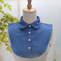 Fashion Women Vintage Choker Necklace Detachable Lapel Shirt Fake False Collar