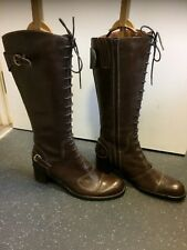 Brand New Tamaris Real Brown Leather just below knee boots size UK 8 (41)
