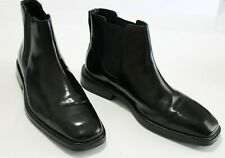 Cole Haan Waterproof 9 M Black Glossy Leather Chukka Boots $185 Cushioned Insole