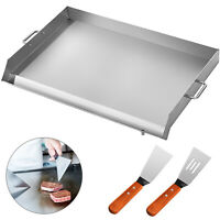 """36"""" x 22"""" Stainless Steel Griddle Flat Top Grill Kitchen Heavy duty BBQ Burner"""