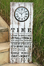 Wanduhr TIME Uhr Wanddeko Wandbild Deko römisch Vintage- Shabby Stil PVC Holz