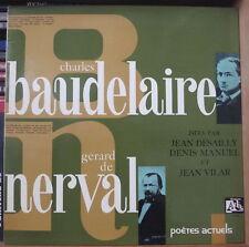 BAUDELAIRE/GERARD DE NERVAL POETES ACTUELS GATEFOLD COVER FRENCH LP DISQUES ADES