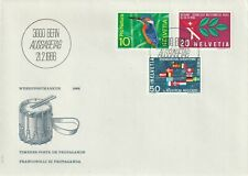 1966 Switzerland/Helvetia FDC cover Nature Protection