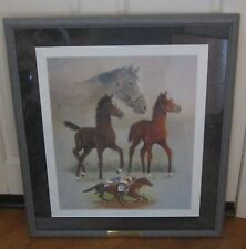 """THE MAKING OF A CHAMPION"" HORSE RACING PRINT JIM OLIVER NUMBER 90/200 PLATE 1"