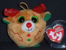 TY BABY BEANIES - CHESTNUT the REINDEER - MINT with MINT TAGS